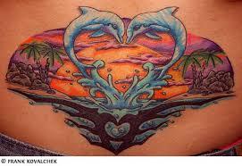 tribal dolphin tattoo design
