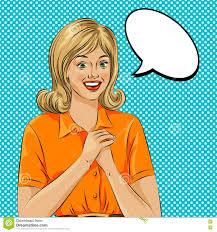 speech bubble hand drawn wow bubble pop art surprised woman face pop art illustration of a