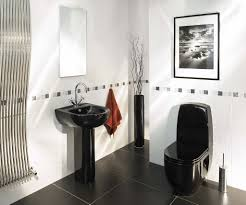 Bathroom Ideas And Designs by Interior Black And White Bathroom Ideas Intended For Striking