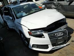 white audi sedan 2011 audi a4 sedan white 2 0 automatic cvt damaged all for