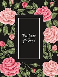 imagenes de rosas vintage marco con rosas decorativos flores imagen para la boda vectores en