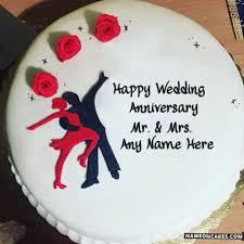 Wedding Anniversary Cakes With Name