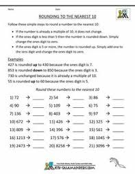 rounding math worksheets u0026 25 best ideas about rounding decimals