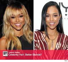karrueche hair color karrueche tran copies rihanna s blonde hair during new york