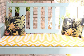 Porch Swing With Cushions Diy No Sew Swing Or Chair Cushion
