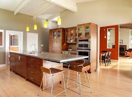 asian buffet kitchen contemporary with extended island countertop