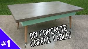 Concrete Tables For Sale Diy Ardex Concrete Coffee Table Part 1 Of 2 Youtube Cement