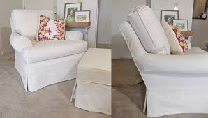 white chair slipcover t cushion home design photo gallery