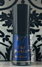 the sequined nail no7 sing the blues swatch