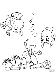 coral reef fish coloring page free printable coloring pages