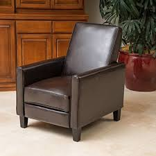 Brown Leather Recliner Small Leather Recliners Amazon Com