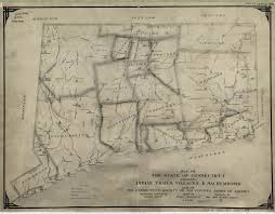 Colonial America Map Map Of The State Of Connecticut Showing Indian Trails Vil U2026 Flickr