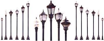decorative street light poles fluted municipal quality aluminum street light pole black base