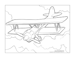 airplane coloring pages tim u0027s printables