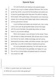 reading comprehension grade 4 worksheets free reading comprehension worksheets for 5th grade