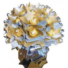money bouquet 2 dozen gold and white ferrero chocolate bouquet pasay flora
