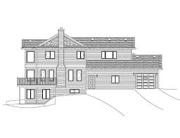 Sloped Lot House Plans 1 Lovely House Plans Rear Garage House And Floor Plan House
