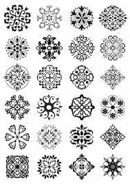 circular damask decorations stock vector graphicjet 25173393