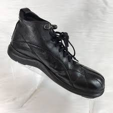 ferracini men u0027s ankle boots black leather size 7 5 m 302572655931