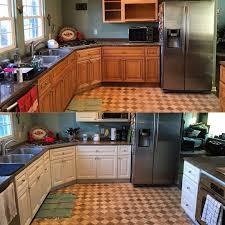 refinishing kitchen cabinets reddit kitchen cabinet resurfacing for 200 diy