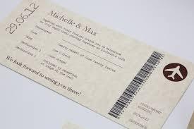 wedding invitations edinburgh vintage style parchment chocolate travel ticket wedding