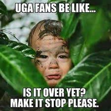 uga fans is it over meme football funnies pinterest football