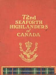 72nd seaforth highlanders of canada military organization