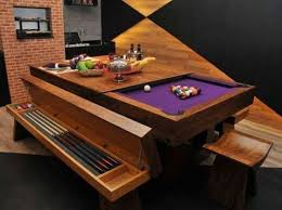 Combination Pool Table Dining Room Table - Pool tables used as dining room tables