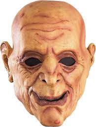 Halloween Costumes Man Latex Man Mask Creepy Scary Face Halloween Costume Wrinkled