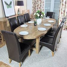 paris solid oak large oval extending dining table oak furniture