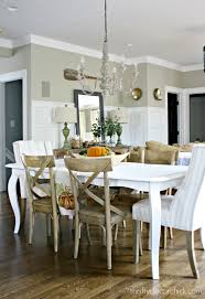 White Wood Dining Room Table by How To Paint A Kitchen Table From Thrifty Decor