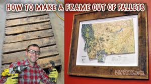 how to make a frame out of a pallet frame a map or picture