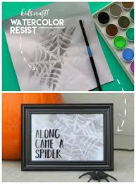 water resist spider webs kids crafts a and a glue gun