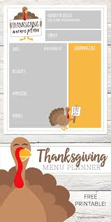 free thanksgiving menu planner lil