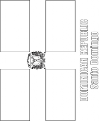 dominican republic coat of arms coloring page coloring pages in