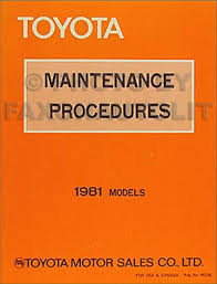 1981 toyota corona and pickup 21r 22r engine repair shop manual
