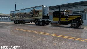 kenworth w900a truck and uncle d reefer trailer with smokey and