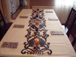 halloween tablecloth halloween table setting potatofaces