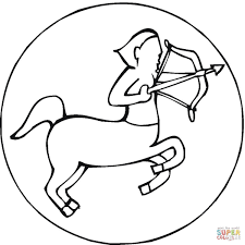 zodiac signs by curvy tribal coloring page free printable