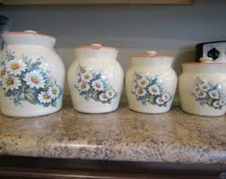 pottery kitchen canisters canister set etsy