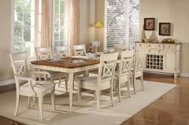 amusing cottage white dining set country style solid wood room of