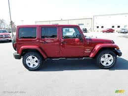 jeep unlimited red deep cherry red crystal pearl 2012 jeep wrangler unlimited sahara