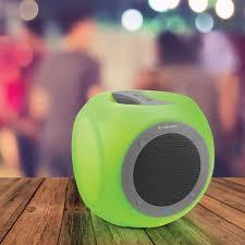 eluma lights speaker system eluma cube app controlled wireless speaker at brookstone buy now