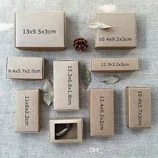 Jewelry Box Favors Natural Kraft Brown Box Carton Caixa Wedding Favors And Gift Boxes