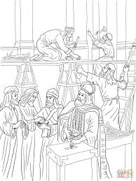 joash repairs the temple coloring page free printable coloring pages
