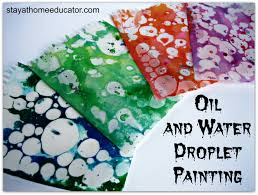 teaching and matter and mixtures with oil and water droplet
