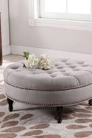 sofa tufted leather ottoman coffee table large storage ottoman