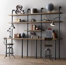 Desk Wall System Wall Shelves Design Best Industrial Wall Shelving System