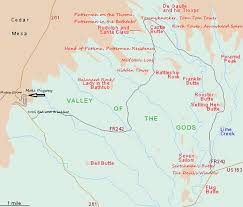 Monument Valley Utah Map by Valley Of The Gods Utah Map New York Map