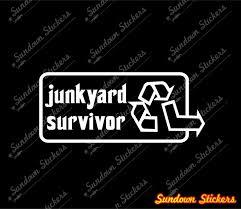 car junkyard singapore 2x junkyard survivor stickers old restored classic car